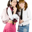 Stock Photo: Schoolgirls