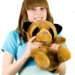 Girl with teddy bear — Stock Photo #2214337