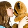 Stock Photo: Girl with teddy bear