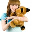 Girl with teddy bear — Stock Photo #2214351