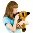 Girl with teddy bear — Stock Photo #2214387