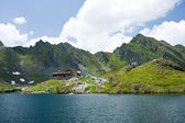 Balea Lake in Romania — Stock Photo