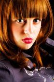 Redhead glamour woman — Stock Photo