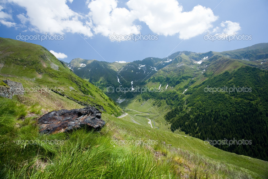 Beautiful view of Romanian mountain on summer  Stock Photo #2210804