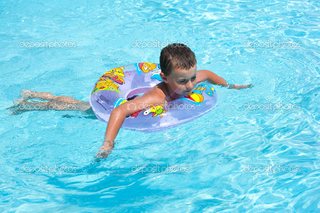 Cute kid swimming in pool stock photo xalanx 2213293 for Cute pool pictures