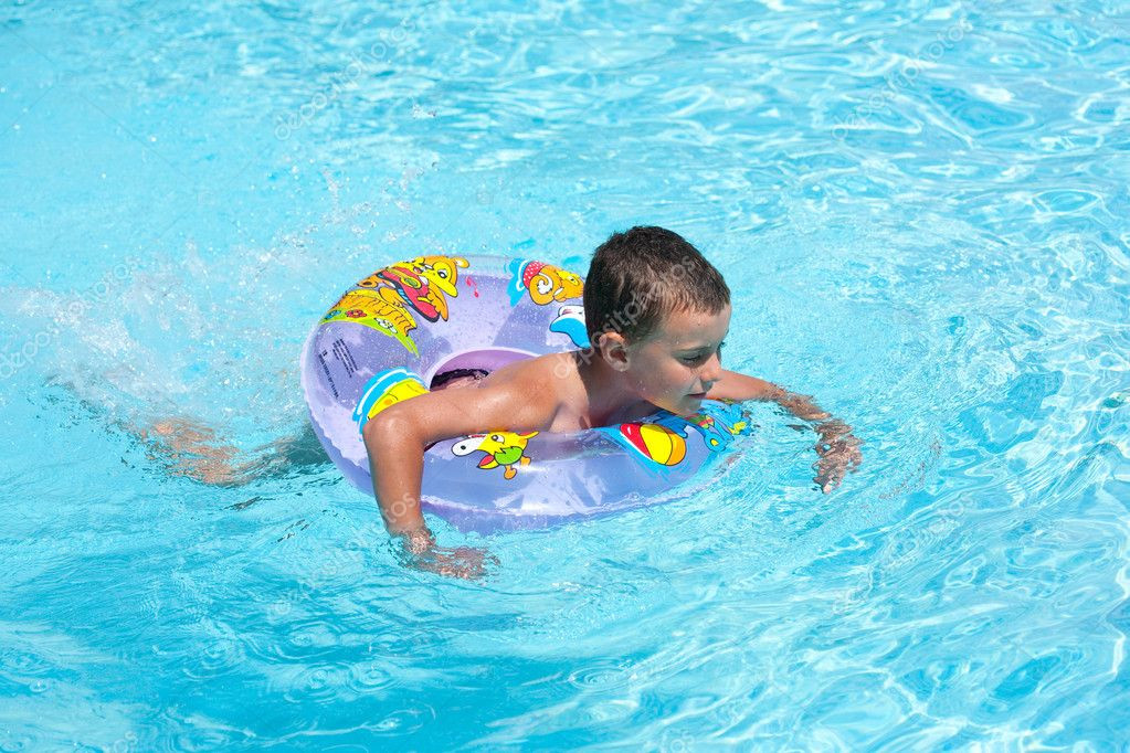 Cute kid swimming in pool stock photo xalanx 2213315 for Cute pool pictures