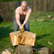 Splitting wood - Lizenzfreies Foto