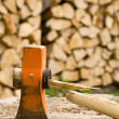 Axe with broken handle - Stockfoto