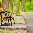 Benches in park — Foto de Stock