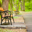 Stock Photo: Benches in park