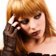 Gotisch of emo meisje — Stockfoto