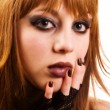 gothic or emo girl — Stock Photo