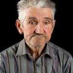 Old man on black background — Stock Photo #2246257