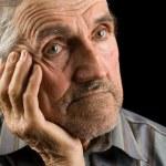 Old man on black background — Stock Photo #2246289
