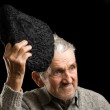 Old man saluting — Stock Photo #2246333