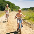 Mother and son with bicycles — Stock Photo
