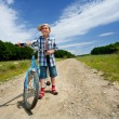 Boy with bike — Stok fotoğraf