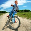 Royalty-Free Stock Photo: Boy with bike