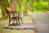 Benches in park — Stock Photo