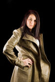 Woman in overcoat — Stock Photo