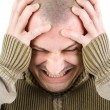 Man with migraine - Stock Photo
