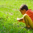 Boy studying nature — Stock Photo #2250687