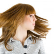 Girl waving her hair — Stock Photo
