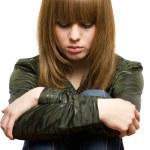 smutná dívka — Stock fotografie
