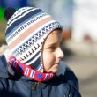 Close up portrait of a cute kid outdoor - Stockfoto