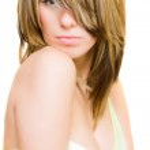 Sexy blonde on white — Stock Photo