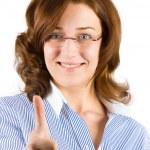 年轻的商界女强人 — 图库照片