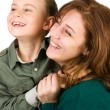 Mother and son having fun — Stock Photo
