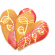 Heart shaped cookies isolated - Stock Photo