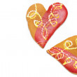 Stock Photo: Heart shaped cookies isolated