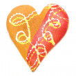 Heart shaped cookies isolated — Stock Photo