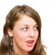 Woman licking her lips — Stock Photo #2254774