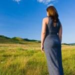 Beautiful woman walking — Stock Photo #2255769
