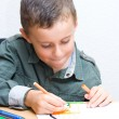 Cute kid drawing — Stock Photo #2255859
