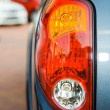Tail lights of a blue truck — Stock Photo