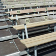 Numbered benches - Stock Photo