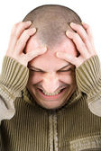 Man with migraine — Stock Photo