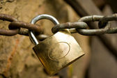 Padlock and chain — Stock Photo