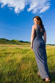 Beautiful woman walking — Stock Photo