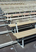 Numbered benches — Stock Photo