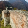 Ruins of Dracula's fortress - Foto Stock