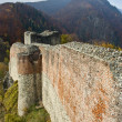 Ruins of Dracula's fortress — Stock Photo