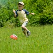 Boy playing soccer — Stock Photo #2275750