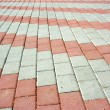 Stock Photo: Pavement with pattern