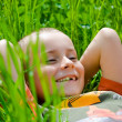 Boy in grass — Stock Photo #2278814
