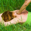 Woman enjoying massage — Stock Photo #2279815